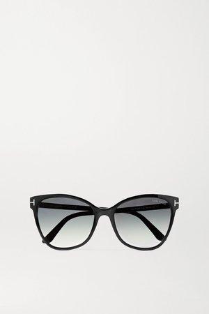 Black Ani cat-eye acetate sunglasses | TOM FORD | NET-A-PORTER