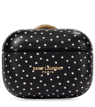 Saint Laurent - Polka-dot leather AirPods Pro case | Mytheresa