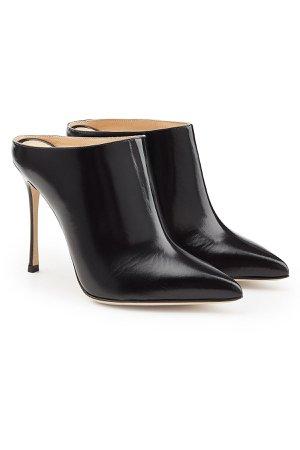Leather Mule Heels Gr. IT 38