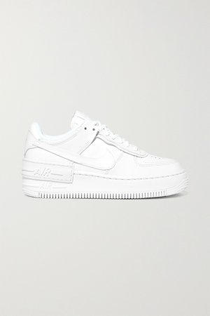 White Nike Air Force 1 Shadow leather sneakers | Nike | NET-A-PORTER