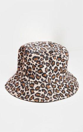 Leopard Print Bucket Hat   Accessories   PrettyLittleThing