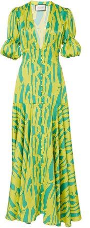 Zuella Printed Crepe De Chine Maxi Dress