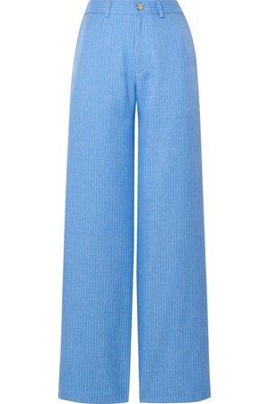 Maggie Marilyn   + NET SUSTAIN Go Getter pinstriped woven straight-leg pants   NET-A-PORTER.COM
