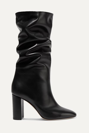 Black Laura 85 leather knee boots | Gianvito Rossi | NET-A-PORTER