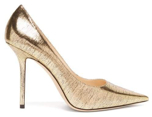 Love 100 Metallic Leather Pumps - Womens - Gold