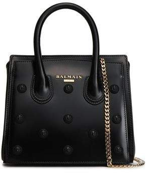 Appliqued Leather Tote