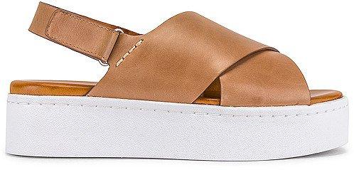Peach Flatform Sandal