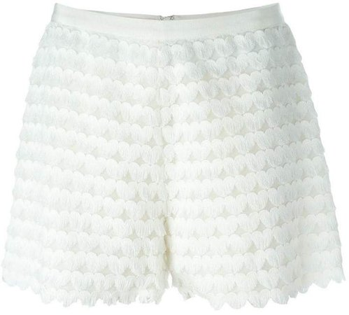 fringed heart shorts