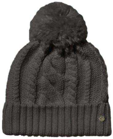 Cable Knit Pompom Merino Wool Beanie