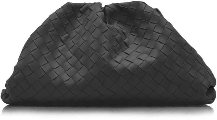 Intrecciato Leather Clutch