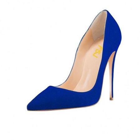 Royal Blue Office High Heel Shoes Stiletto Heels Pumps