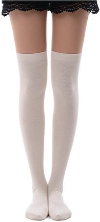 MK MEIKAN Thigh High Socks, Tube Dresses Over the Knee Stockings Cosplay Costumes Socks for Women Graduation Gifts 1 Pair, Brown at Amazon Women's Clothing store