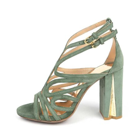 Sandals Green Olive Luis Onofre