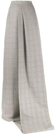 Loulou Panelled Long Skirt