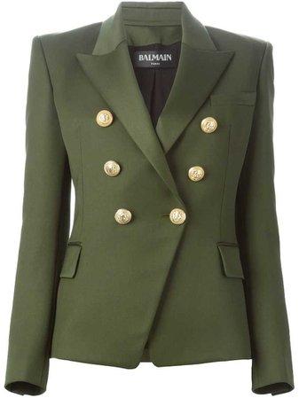 Balmain Green Fitted Blazer