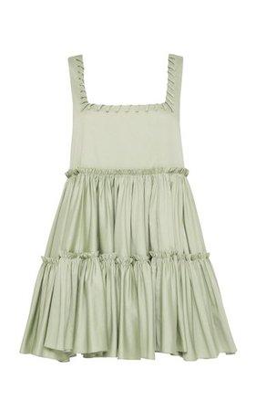 Hushed Braid-Detailed Cotton Mini Dress By Aje | Moda Operandi