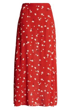 Billabong Flirty Daze Floral Skirt   red