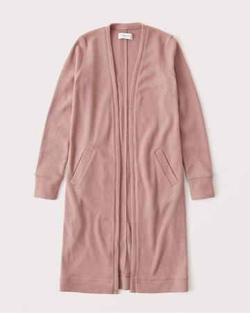 Pink Women's Cozy Duster Cardigan | Women's New Arrivals | Abercrombie.com