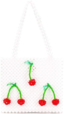 Susan Alexandra cherry beaded bag