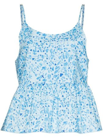 Shop blue Helmstedt Mira floral-print camisole with Express Delivery - Farfetch