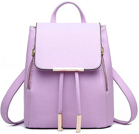 Amazon.com: Pahajim Women Bag Backpack Purse cute PU Leather Zipper Bags Fashion Casual Rucksack Satchel and handbags for Women Girls Ladies (purple): Clothing