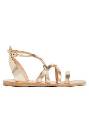 Ancient Greek Sandals | Delia metallic leather sandals | NET-A-PORTER.COM