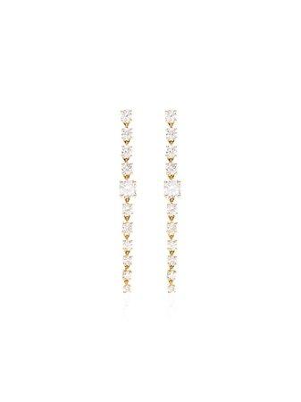 Anita Ko 18kt Gold And Diamond Drop Earrings - Farfetch