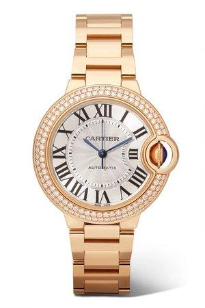 Cartier | Ballon Bleu de Cartier 33 mm Uhr aus 18 Karat Rotgold mit Diamanten | NET-A-PORTER.COM