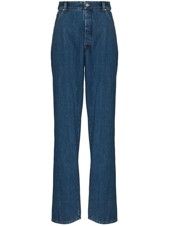 Shop Kwaidan Editions high-waisted straight-leg jeans with Express Delivery - FARFETCH