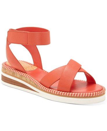 Vince Camuto Women's Miveeria Flat Sandals & Reviews - Sandals & Flip Flops - Shoes - Macy's red