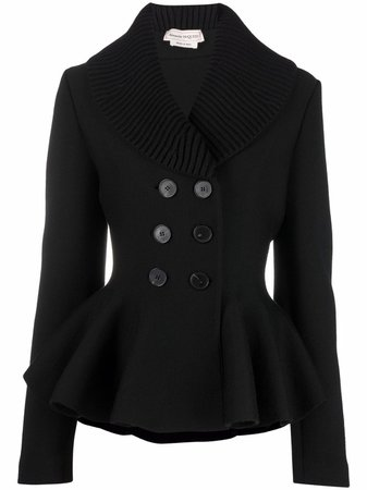 Alexander McQueen fitted double-breasted jacket - FARFETCH