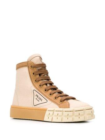 Prada High-Top-Sneakers Mit Logo