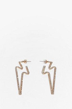 High Energy Star Diamante Earrings | Nasty Gal