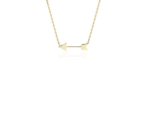 Petite Arrow Necklace in 14k Yellow Gold | Blue Nile