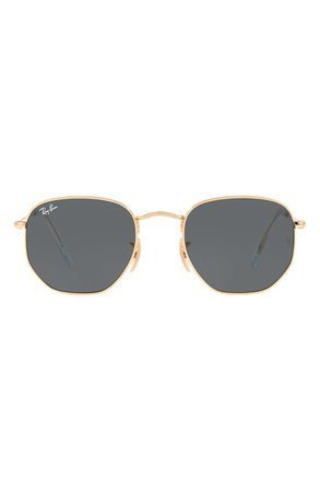 Ray-Ban 51mm Hexagonal Flat Lens Sunglasses | Nordstrom