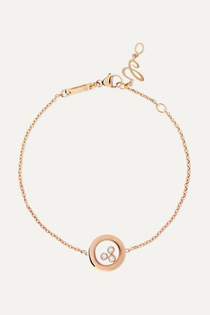 Rose gold Happy Diamonds 18-karat rose gold diamond bracelet | Chopard | NET-A-PORTER