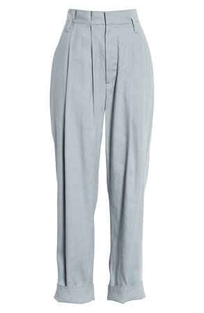 Brunello Cucinelli Pleated Stretch Linen & Cotton Pants | Nordstrom
