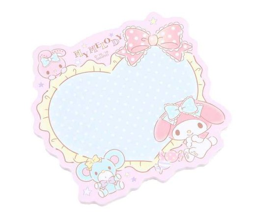 My Melody Sticky Note Pad: Heart | Sanrio