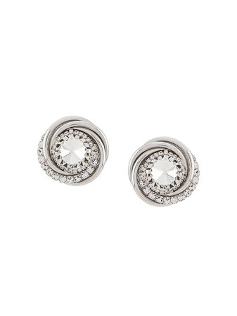 Alessandra Rich crystal-embellished clip-on Earrings - Farfetch