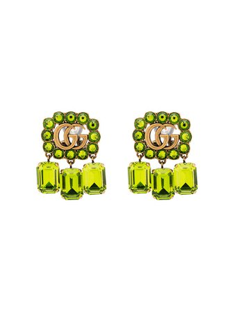 Gucci Double G Logo Drop Earrings - Farfetch