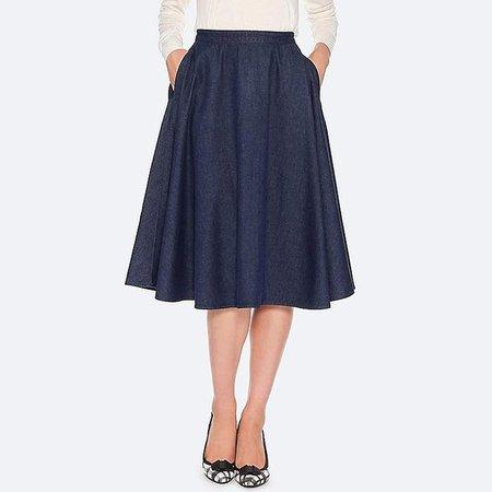 Women's Cotton High-waist Circular Skirt