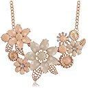 Amazon.com: iWenSheng Peach Pink Choker Necklace Fashion Flower Bubble Bib Chain Statement Necklaces for Women: Jewelry