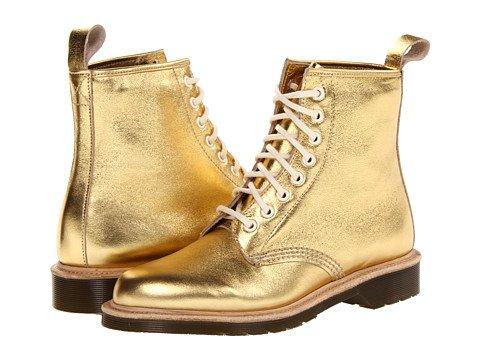 Gold Doc Martens