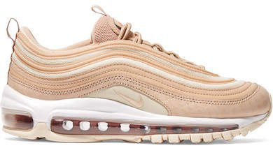 Air Max 97 Lx Croc-effect Leather And Mesh Sneakers - Neutral