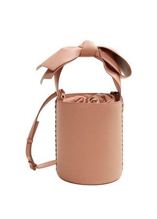 MANGO Bow bucket bag