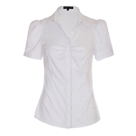 White Blouse Short Sleeve