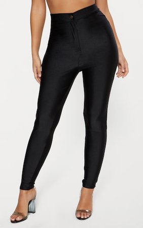 Black Disco Trouser | Trousers | PrettyLittleThing
