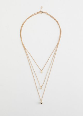 Triple Chain Pendant Necklace - Gold - Necklaces - & Other Stories
