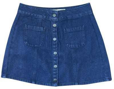 Brandy Melville Blue Denim Miniskirt Size 0 (XS, 25) - Tradesy
