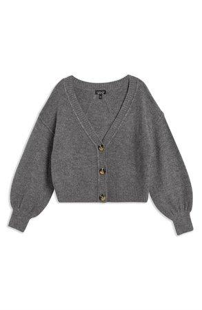 Topshop Horn Button Crop Cardigan | Nordstrom